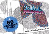 Kaleidomania - book of 60 intricate mandala kaleidoscope coloring pages