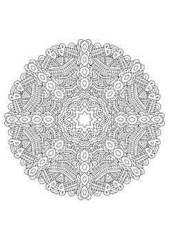 Kaleidoscope Coloring Pages | Coloring pages to print, Pattern ... | 350x246