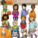 Kaleidoscope Kids: Middle School Kids Clip Art