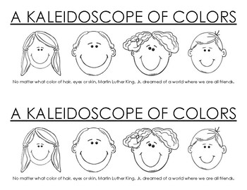 Kaleidoscope of Colors Coloring Sheet (Martin Luther King Day)
