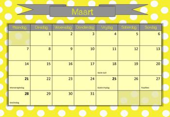Kalender 2016 geel
