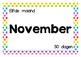 Kalender - Maanden van het jaar - Tekst - Wandplaten - Pol