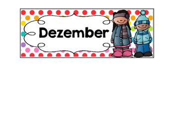 Kalender - Monate des Jahres - Polka dots multi