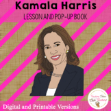 Kamala Harris Lesson and Diorama Pop Up Book | Distance Learning