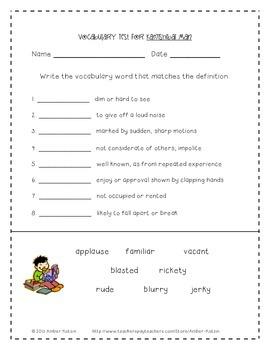 Kamishibai Man Mini Pack Activities 3rd Grade Journeys: Unit 2, Lesson 9