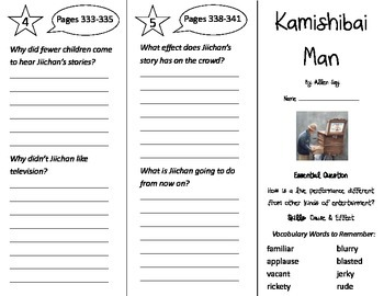 Kamishibai Man Trifold - Journeys 3rd Grade Unit 2 Wk 4 (2014, 2017 Common Core)