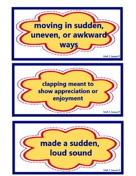 Kamishibai Man, Vocabulary Cards, Unit 2, Lesson 9, Journeys 3rd Grade