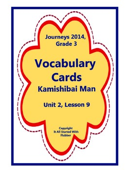 Kamishibai Man, Vocabulary Cards, Unit 2, Lesson 9, Journe