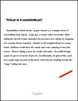 STORYTELLING WITH STUDENT CREATED PICTURES: Kamishibai