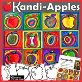 Back to School Art Project : Kandi-Apples : In the Style o