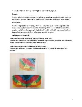 Kandinsky Abstract Napkin Art Design Printmaking