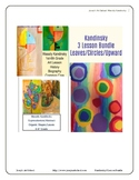 Kandinsky Art Lessons 3 Lesson Bundle Leaves Circles Upwar