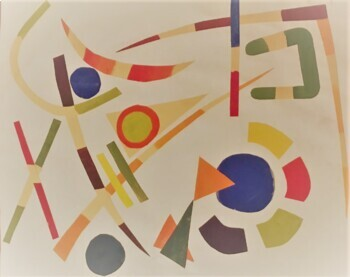 Kandinsky Color Mixing and Abstract Composition Project