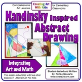 Art Lesson Kandinsky Inspired Abstract Art Geometry Integrated