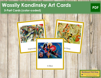 Kandinsky (Wassily) 3-Part Art Cards - Color Borders