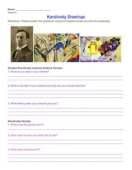 Kandinsky Worksheet