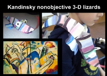Kandinsky nonobjective 3-D Abstract lizards (need Smart No