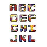 Alphabet Clip Art, Kandinsky's Color Study