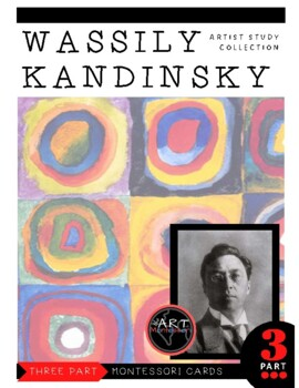 Artist Wassily Kandinsky Montessori 3 Part Cards with Display Card