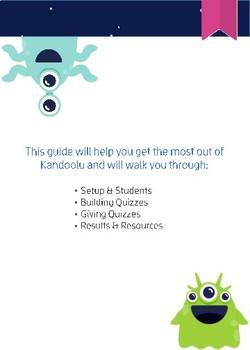 Kandoolu Quick Start Guide for Teachers