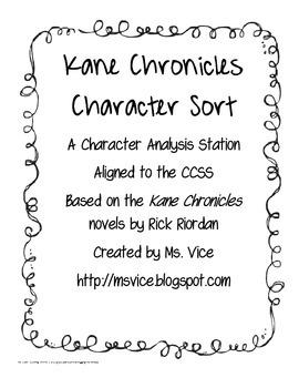Kane Chronicles Character Sort