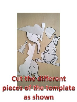 Kangaroo 3D standing up paper model