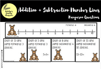 Kangaroo Addition and Subtraction BUNDLE