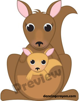 Kangaroo Clip Art and Joey Kangaroo Clipart by Dancing ...
