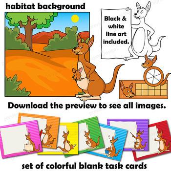 Kangaroo Clip Art with Signs