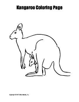 Kangaroo Coloring Page Bundle