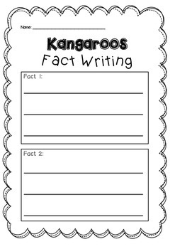 Kangaroo Mini Writing Unit