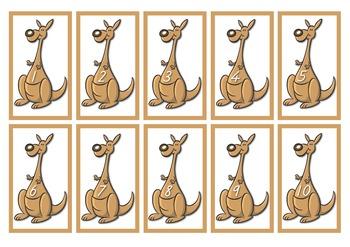 Kangaroo Mothers and Babies - Numbers 1 to 10