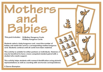 Kangaroo Mothers and Babies - Numbers 1 to 10