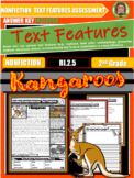 Kangaroo Nonfiction Text Features Passages With Questions