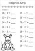 #ausbts18 Kangaroo Number Line Subtraction Questions