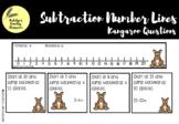 Kangaroo Number Line Subtraction Questions