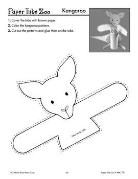 Kangaroo Paper Tube Animal