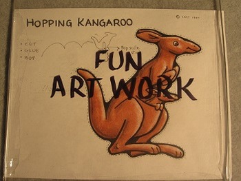 Kangaroo Puppet. Fun Craft Art