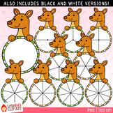 Kangaroo Spinners Clip Art