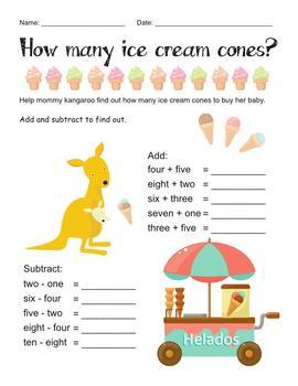 Kangaroo - numbers 1 - 10