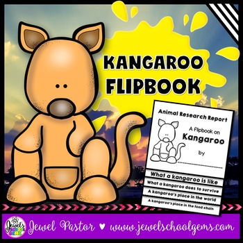 Australian Animals Activities (Kangaroo Research Flipbook)