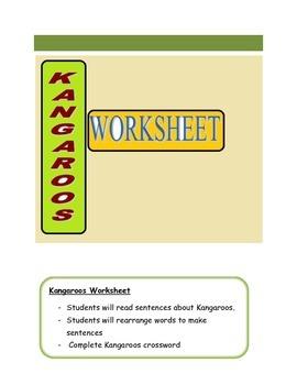 Kangaroos Worksheet