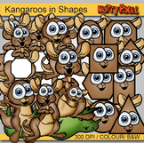 Kangaroos in Shapes - Shapes Clip art