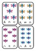 Japanese: Kanji Numbers 1 - 12 PEG CARDS : Dragonfly theme