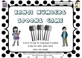 Kanji Numbers SPOONS GAME