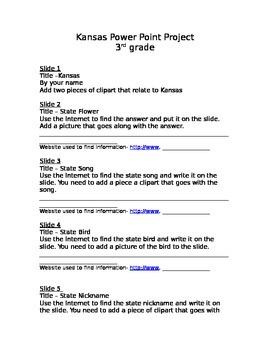 Kansas 3rd Grade Power Point Project