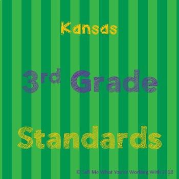 Kansas 3rd Grade Standards BUNDLE
