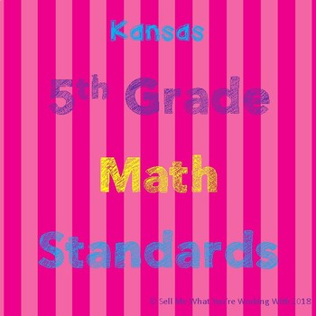 Kansas 5th Grade Math Standards