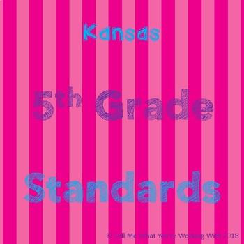 Kansas 5th Grade Standards BUNDLE