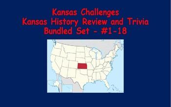 Kansas Challenges (Kansas Trivia) Enrichment Assignments - Bundled #1-18